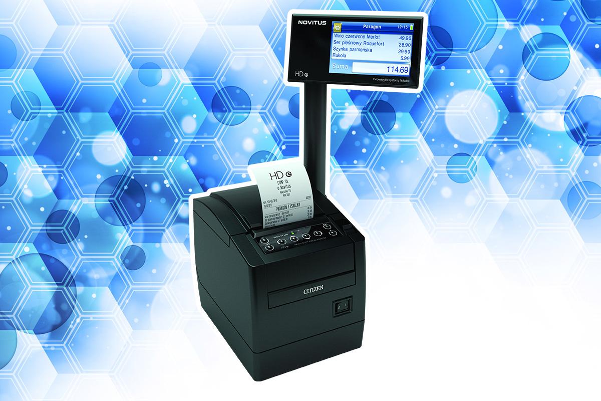 Novitus HD E - drukarka fiskalna z pojemną bazą towarową